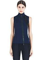 Paco Rabanne Sleeveless Scuba Top Navy