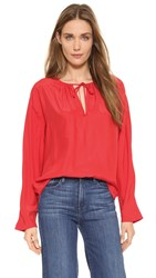 Frame Le Raglan Blouse Blood Orange