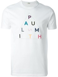 Paul Smith Jeans Letter Print T Shirt White