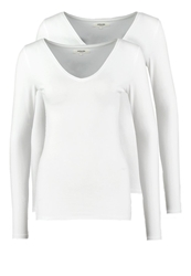 Zalando Essentials 2 Pack Long Sleeved Top White White