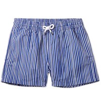 Frescobol Carioca Tracos Striped Mid Length Swim Shorts Blue