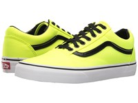 Vans Old Skool Brite Neon Yellow Black Skate Shoes