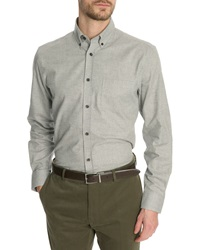 Menlook Label Owen Light Grey Button Down Collar Shirt