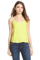 Lush Strappy Back Camisole Juniors Yellow