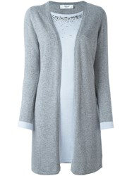 Blugirl Layered Embellished Cardigan Grey