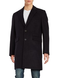 Hardy Amies Wool And Cashmere Coat Navy