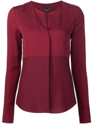 Narciso Rodriguez Collarless Shirt Red