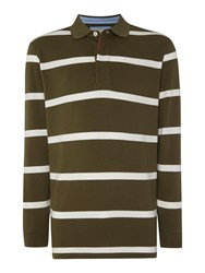Paul Costelloe Stripe Rugby Neck Regular Fit Rugby Top Multi Coloured