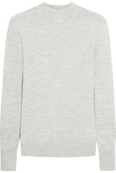 Iris And Ink Florencia Cashmere Sweater Gray