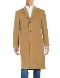Lauren Ralph Lauren Wool And Cashmere Overcoat Beige