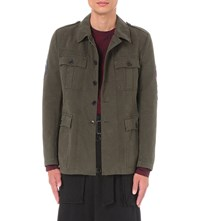 Dries Van Noten Baez Military Cotton Jacket Khaki