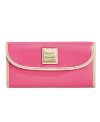 Dooney And Bourke Patent Continental Clutch Wallet Fuchsia