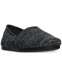 Skechers Women's Bobs Plush Express Yourself Casual Slip On Flats From Finish Line Black