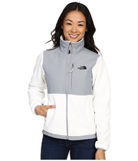 The North Face Denali Jacket Recycled Tnf White Mid Grey Women's Coat