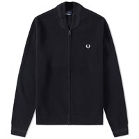 Fred Perry Zip Cardigan Black