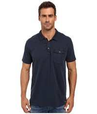 Lucky Brand Short Sleeve Polo Navy Blazer Men's Clothing