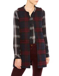 Sanctuary Cecilia Plaid Vest Shiraz