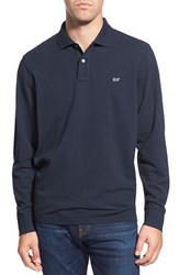 Vineyard Vines Men's Long Sleeve Pique Knit Polo Vineyard Navy