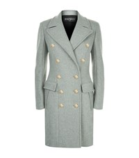 Balmain Slim Wool Cashmere Coat Female