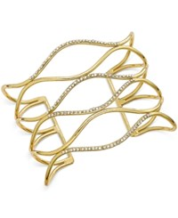 Inc International Concepts Silver Tone Pave Open Cuff Bracelet Only At Macy's Gold