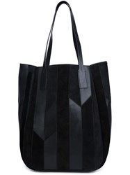Derek Lam 10 Crosby Stripe Detail Tote Black