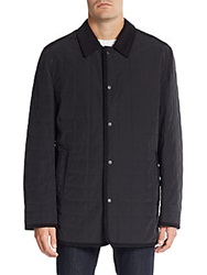 Saks Fifth Avenue Quilted Barn Jacket Black