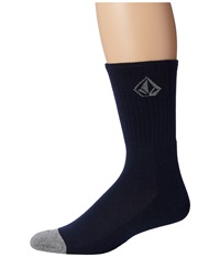 Volcom Full Stone Heather Socks Navy Men's Crew Cut Socks Shoes