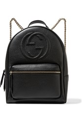 Gucci Soho Textured Leather Backpack Black