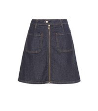 Ag Jeans Becca Denim Skirt Blue