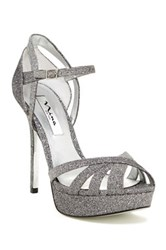 Nina Shoes Senora Peep Toe Pump Gray