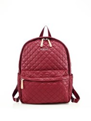 M Z Wallace Oxford Medium Metro Quilted Nylon Backpack Maroon Oxford