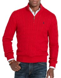 Polo Ralph Lauren Cable Knit Mockneck Sweater Martin Red