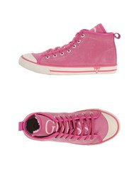 Guess Footwear High Tops And Trainers Women Fuchsia