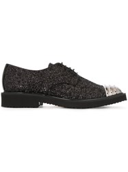Giuseppe Zanotti Design Toe Cap Derby Shoes Black