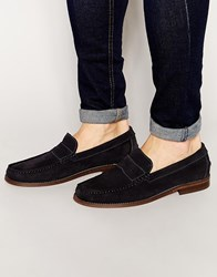 Hudson London Suede Augusta Loafers Blue