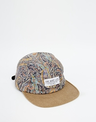 The Quiet Life X Liberty Paisley 5 Panel Cap Beige