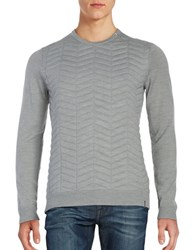 Calvin Klein Quilted Crewneck Sweater Grey