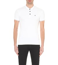 Replay Classic Cotton Pique Polo Shirt White