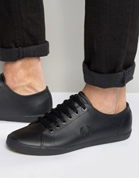 Fred Perry Kingston Leather Plimsolls Black Brown
