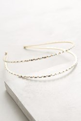Anthropologie Lanna Headband Gold