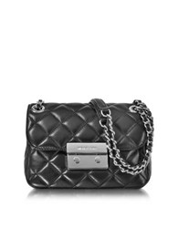 Michael Kors Sloan Small Quilted Leather Chain Shoulder Bag Black