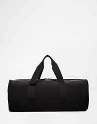 Asos Barrel Bag In Black Scuba With Mesh Panels