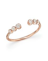Bloomingdale's Diamond Bezel Ring In 14K Rose Gold .20 Ct. T.W. Pink