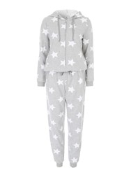 Jane Norman Grey Star Printed Onesie