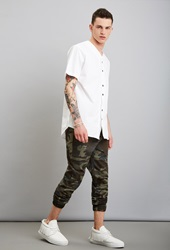 Forever 21 Reason Camo Joggers Brown Green