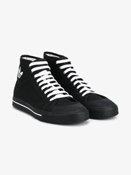 Raf Simons X Adidas Matrix Spirit Cotton High Top Sneakers Black White