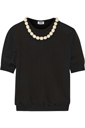 Moschino Cheap And Chic Bead Embellished Wool And Cotton Blend Sweater