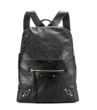 Balenciaga Classic Traveller Leather Backpack Black