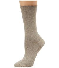 Hue Jean Sock 3 Pack Oatmeal Heather Women's Crew Cut Socks Shoes Beige