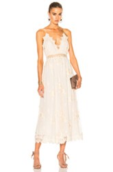 Zimmermann Tropicale Antique Jumpsuit In White Floral White Floral